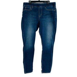Women's Levi's Gold Totally Shaping Size 16L Pull-On Jeans 9990 Jegging Blue